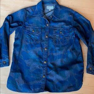 Current Elliott camo denim shirt